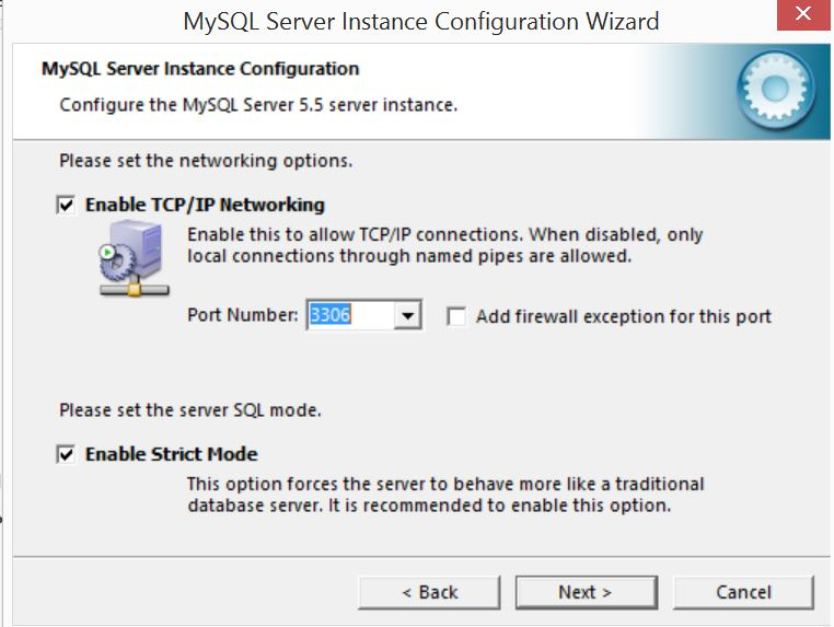 MySQL Server Instance Configuration Wizard6