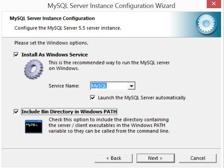 MySQL Server Instance Configuration Wizard8