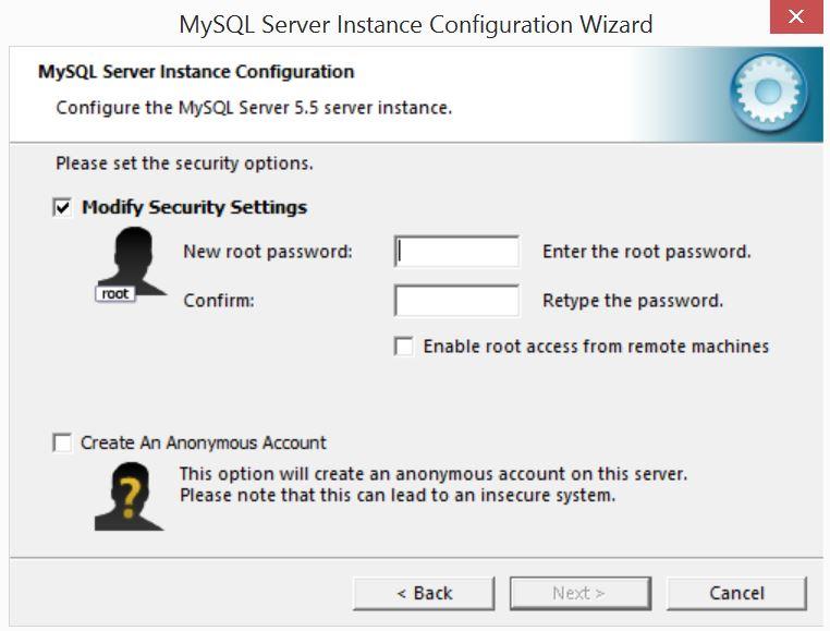 MySQL Server Instance Configuration Wizard9